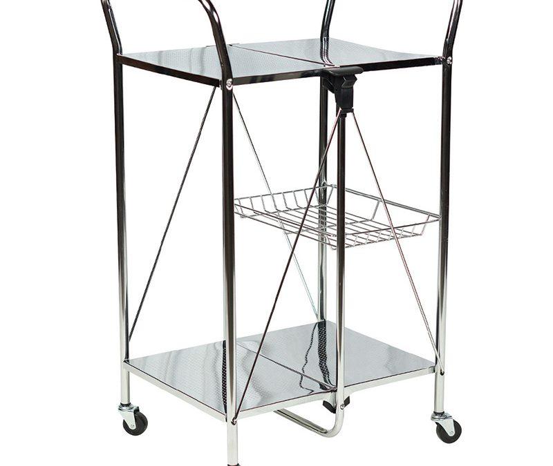 Apollo Hardware A-KC45AC Folding Utility and Kitchen Cart (Chrome)